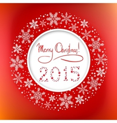 Christmas round frame with Congratulation Text and vector image vector image