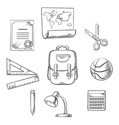 Hand drawn education infographic elements vector