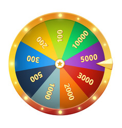 spinning wheel with prizes game roulette vector image