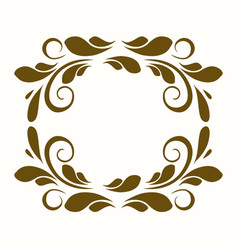 beautiful frame pattern place for writing vector image vector image