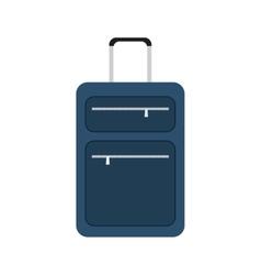 blue suitcase travel equipment vector image