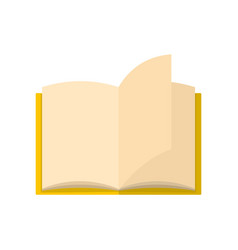 book page icon flat style vector image