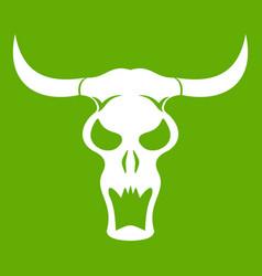 buffalo skull icon green vector image