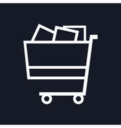 Cart Isolated on Black Background vector image