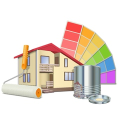 Painting Concept with House vector image