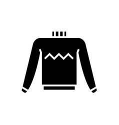 sweater icon black sign on vector image