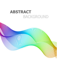 abstract colorful line wave on white background vector image
