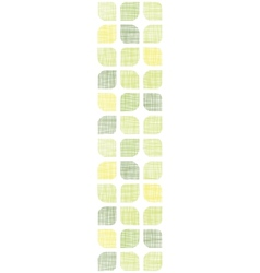 Abstract textile green rounded squares vertical vector image vector image