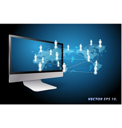 communication in global computer networks vector image vector image