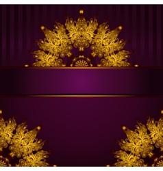 Golden medallion vintage frame vector image