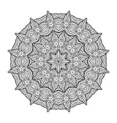 Graphic lattice circle ornament vector image vector image