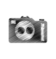 hand draw photographic camera digital vector image vector image