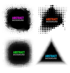 set of halftone design elements isolated on white vector image