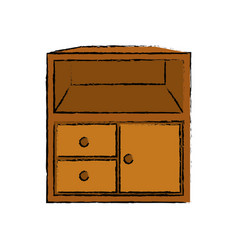 small wooden closet vector image