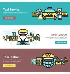 Taxi banner set vector
