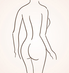 Female Body Silhouette vector image