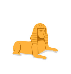 isolated sphinx in flat style vector image