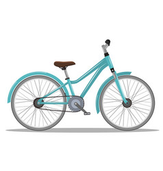 the old orange classic bicycle vector image