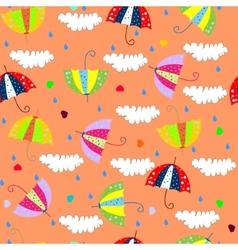 umbrella and love vector image vector image