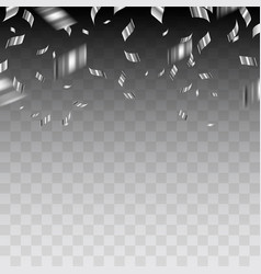 abstract background with silver confetti vector image