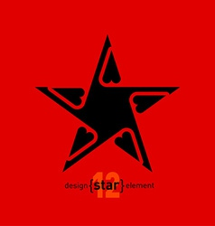 Abstract design element star vector image