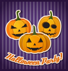 abstract greeting halloween poster vector image
