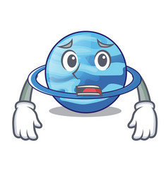 Afraid planet uranus in the cartoon form vector