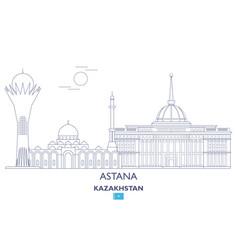 astana city skyline vector image
