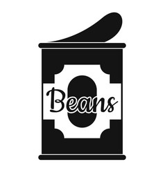 Beans tin can icon simple style vector