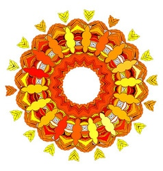 Beautiful Deco color Mandala vector