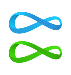Blue and green tape of mobius vector