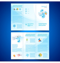 Brochure folder leaflet air conditioner vector