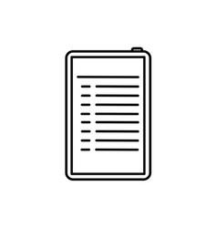 Bulleted list on tablet vector
