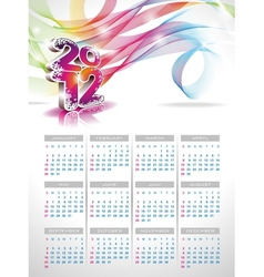 Calendar design 2012 on blue background vector