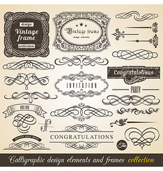 Calligraphic Element Border vector image