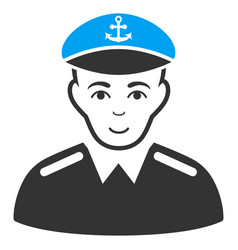 captain flat icon vector image
