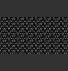 chain mail medieval seamless pattern on dark vector image