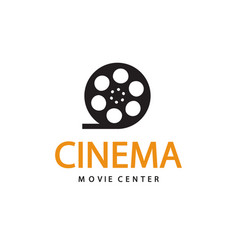 Cinema logo emblem template vector