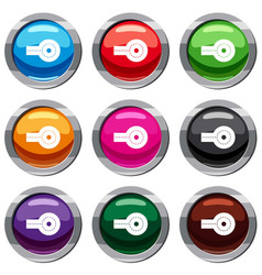 Circular impasse set 9 collection vector