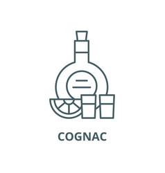 cognac line icon cognac outline sign vector image