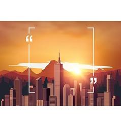 Copyspace Cityscape vector image