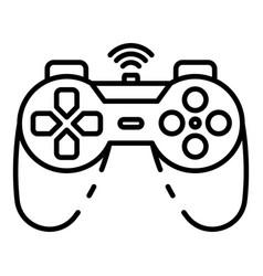 Cordless joystick icon outline style vector