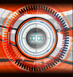 Cyber timer digital vector