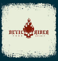 Devil rider label vector
