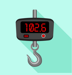 Digital fishhook scales icon flat style vector