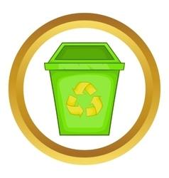 Eco dustbin icon vector