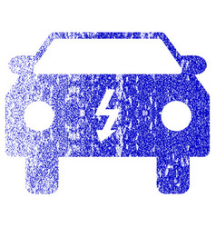 Electric car textured icon vector