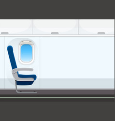 empty aircraft cabin background vector image