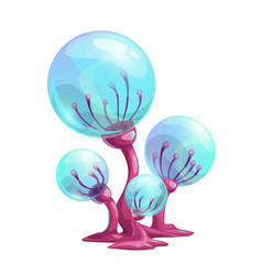 fantasy cartoon mushroom vector image