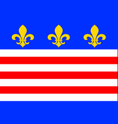 Flag of beziers in herault of occitanie is a vector